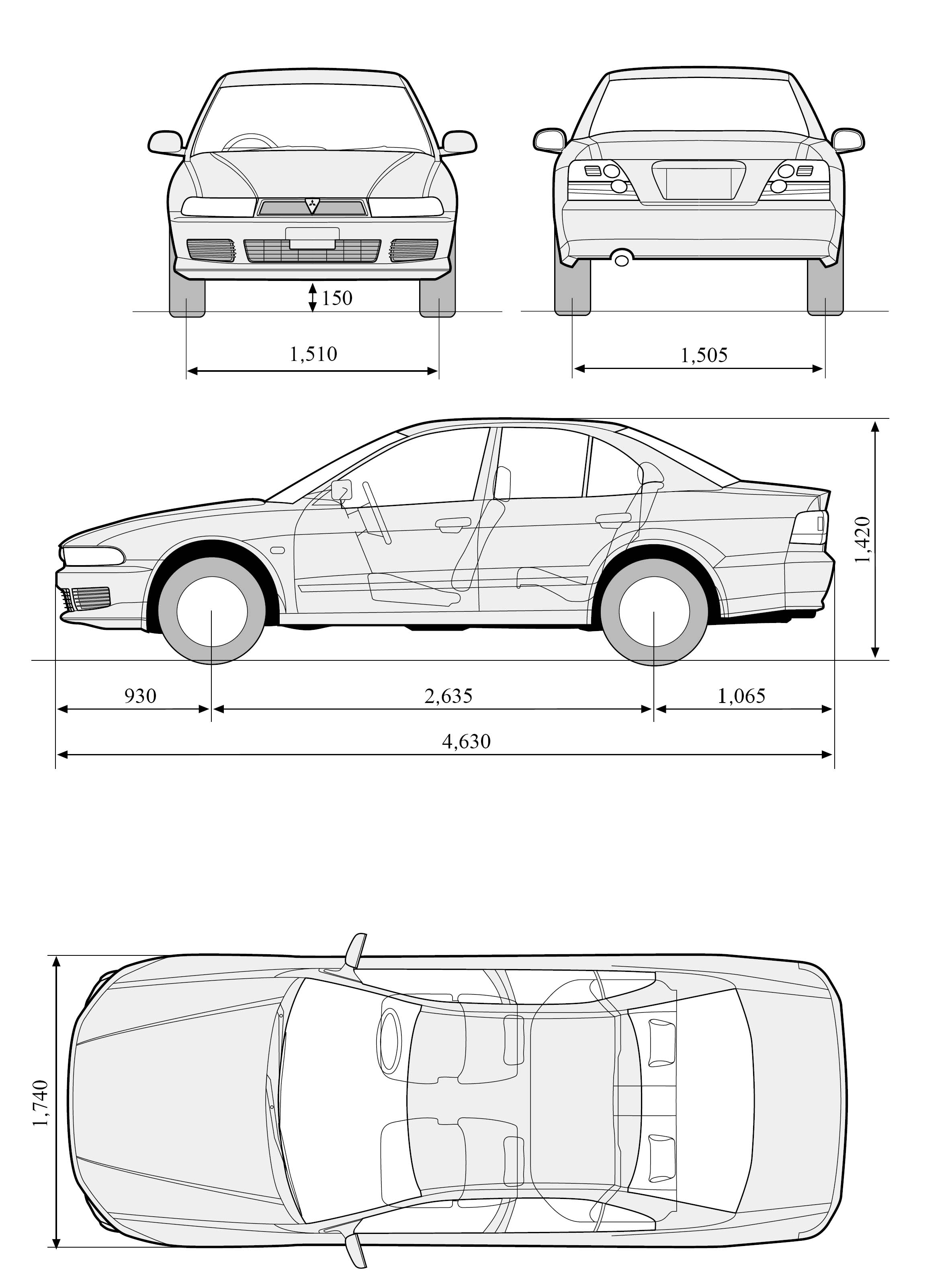 Galant] Blueprints - Datenbank - Mitsubishi Fan Forum