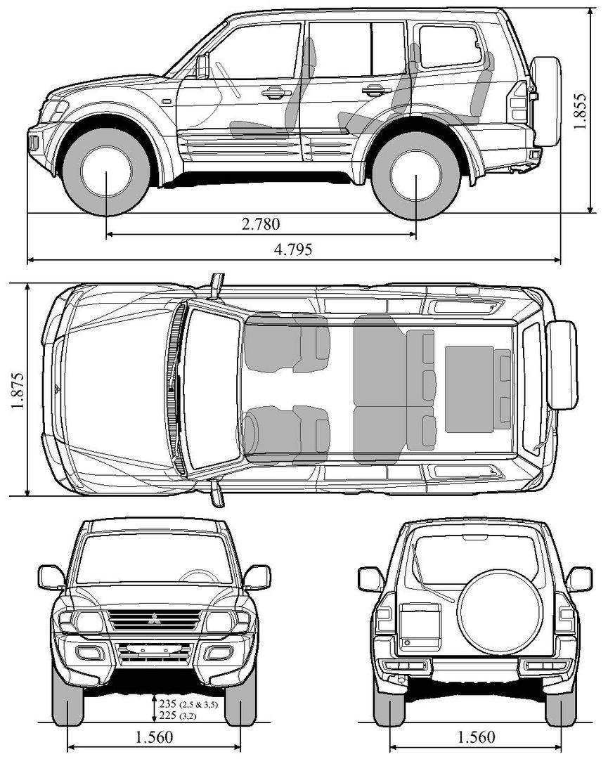 Blueprints für Off-Roadmodelle - Datenbank - Mitsubishi Fan Forum